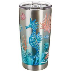 Coastal Home 20 oz. Stainless Steel Coral Reef Tumbler
