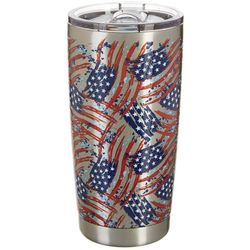 Reel Legends 20 oz. Stainless Steel American Flag Tumbler