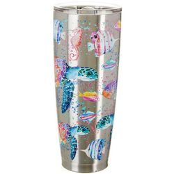 Tropix 30 oz. Stainless Steel Splash Turtle Tumbler