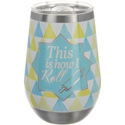 Key Lime Lexi 12 oz. Stainless Steel How I Roll Wine Tumbler