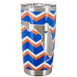 Tropix 20 oz. Stainless Steel Blue & Orange Chevron Tumbler
