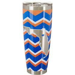 Tropix 30 oz. Stainless Steel Blue & Orange Chevron Tumbler