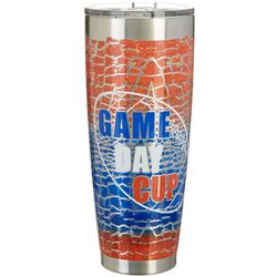 Tropix 30 oz. Stainless Steel Blue & Orange Game Day Tumbler