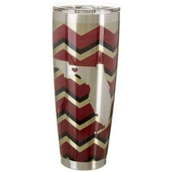 Tropix 30 oz. Stainless Steel Garnet & Gold Chevron Tumbler