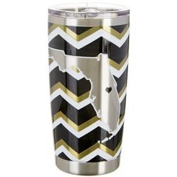 Tropix 20 oz. Stainless Steel Black & Gold Chevron Tumbler