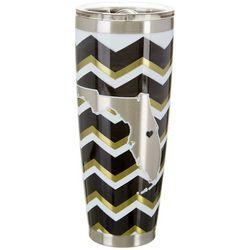 Tropix 30 oz. Stainless Steel Black & Gold Chevron Tumbler