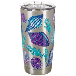 Coastal Home 20 oz. Stainless Steel Color Shells Tumbler
