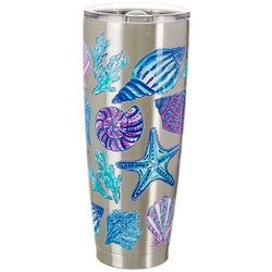 Coastal Home 30 oz. Stainless Steel Color Shells Tumbler