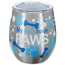 Tropix 8 oz. Stainless Steel My Kids Have Paws Wine Tumbler
