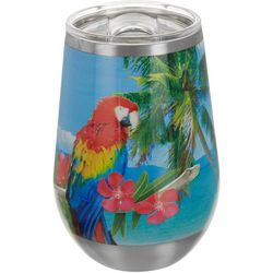 Tropix 12 oz. Stainless Steel Beach Signs Wine Tumbler