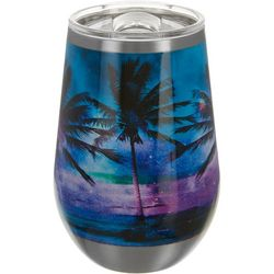 Reel Legends 12 oz. Stainless Steel Paradise Palm Tumbler