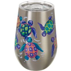 SunBay 12 oz. Stainless Steel Baby Turtles Wine Tumbler