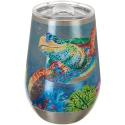 Ellen Negley 12 oz. Stainless Steel Turtle Tango Wine Cup
