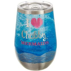 Chubby Mermaids 12 oz. Stainless Steel Love Mermaid Wine Cup