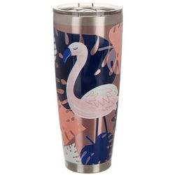 Coastal Home 30 oz. Stainless Steel Flamingo Calypso