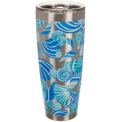 Coastal Home 30 oz. Stainless Steel Icy Shells Tumbler
