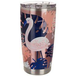Coastal Home 20 oz. Stainless Steel Flamingo Calypso Tumbler