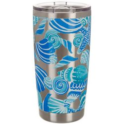Coastal Home 20 oz. Stainless Steel Icy Shells Tumbler