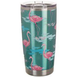 Coastal Home 20 oz. Stainless Steel Icy Flamingo Tumbler