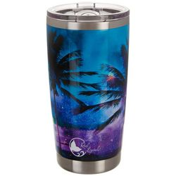 Reel Legends 20 oz. Stainless Steel Paradise Palm Tumbler