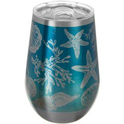 Coastal Home 12 oz. Stainless Steel Sea Icons Wine Cup