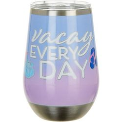 Tropix 12 oz. Stainless Steel Vacay Every Day Wine Tumbler