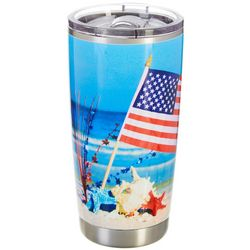 Coral Bay 20 oz. Stainless Steel Beach Flag Travel Tumbler