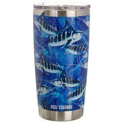 Reel Legends 20 oz. Stainless Steel Marlin Swarm Tumbler