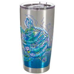 Reel Legends 20 oz. Stainless Steel Sketch Turtle Tumbler