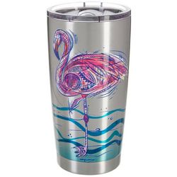Reel Legends 20 oz. Stainless Steel Sketch Flamingo Tumbler