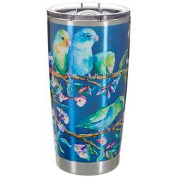 Ellen Negley 20 oz. Stainless Steel Parakeets Tumbler