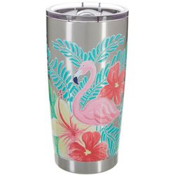 SunBay 20 oz. Stainless Steel Flamingo Floral Tumbler
