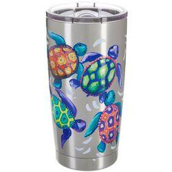 SunBay 20 oz. Stainless Steel Baby Turtles Tumbler