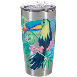 SunBay 20 oz. Stainless Steel Toucan Flowers Tumbler