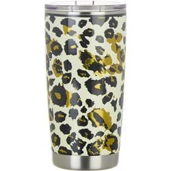 Tropix 20 oz. Stainless Steel Brown Cheetah Travel Tumbler