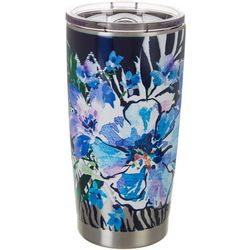 Tropix 20 oz. Stainless Steel Floral Animal Tumbler