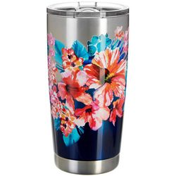 Tropix 20 oz. Stainless Steel Wave Bloom Travel Tumbler