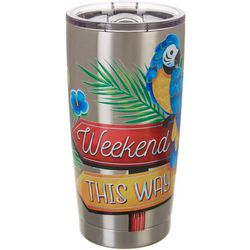 Tropix 20 oz. Stainless Steel Parrot Weekend Tumbler