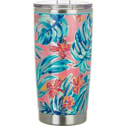 Tropix 20 oz. Stainless Steel Floral Palm Tumbler