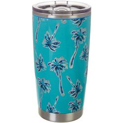 Tropix 20 oz. Stainless Steel Scattered Palm Tumbler