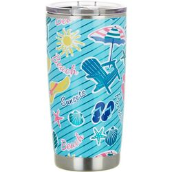 Tropix 20 oz. Stainless Steel Fun Florida Tumbler