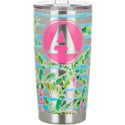 Tropix 20 oz. Stainless Steel Palm Monogram A Tumbler