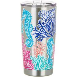Coastal Home 20 oz. Stainless Steel Coral Seas Tumbler