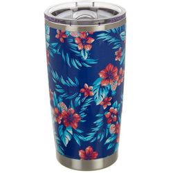 Coastal Home 20 oz. Stainless Steel Floral Travel Tumbler