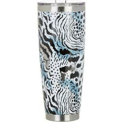 Tropix 30 oz. Stainless Steel Animal Print Travel Tumbler