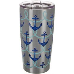 Coastal Home 20 oz. Stainless Steel Anchored Sea Tumbler