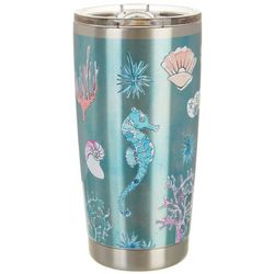 Coastal Home 20 oz. Stainless Steel Seahorse Tumbler