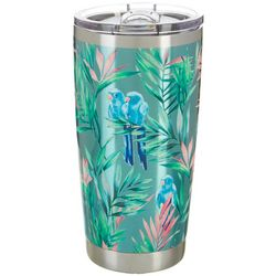 Coastal Home 20 oz. Stainless Steel Tropical Birds Tumbler