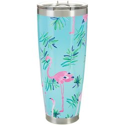 Coral Bay 30 oz. Stainless Steel Flamingo Travel Tumbler