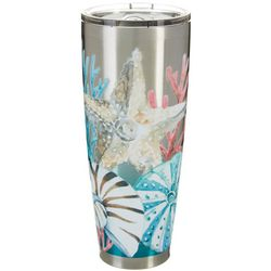 Coastal Home 30 oz. Stainless Steel Seashells Tumbler